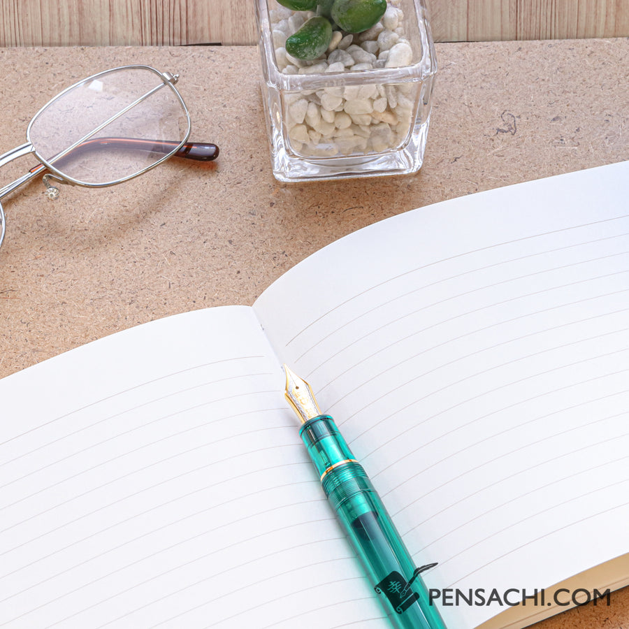 Premium C.D. Notebook CD Blue - 6.5mm - Ruled, 14 lines - PenSachi Japanese Limited Fountain Pen