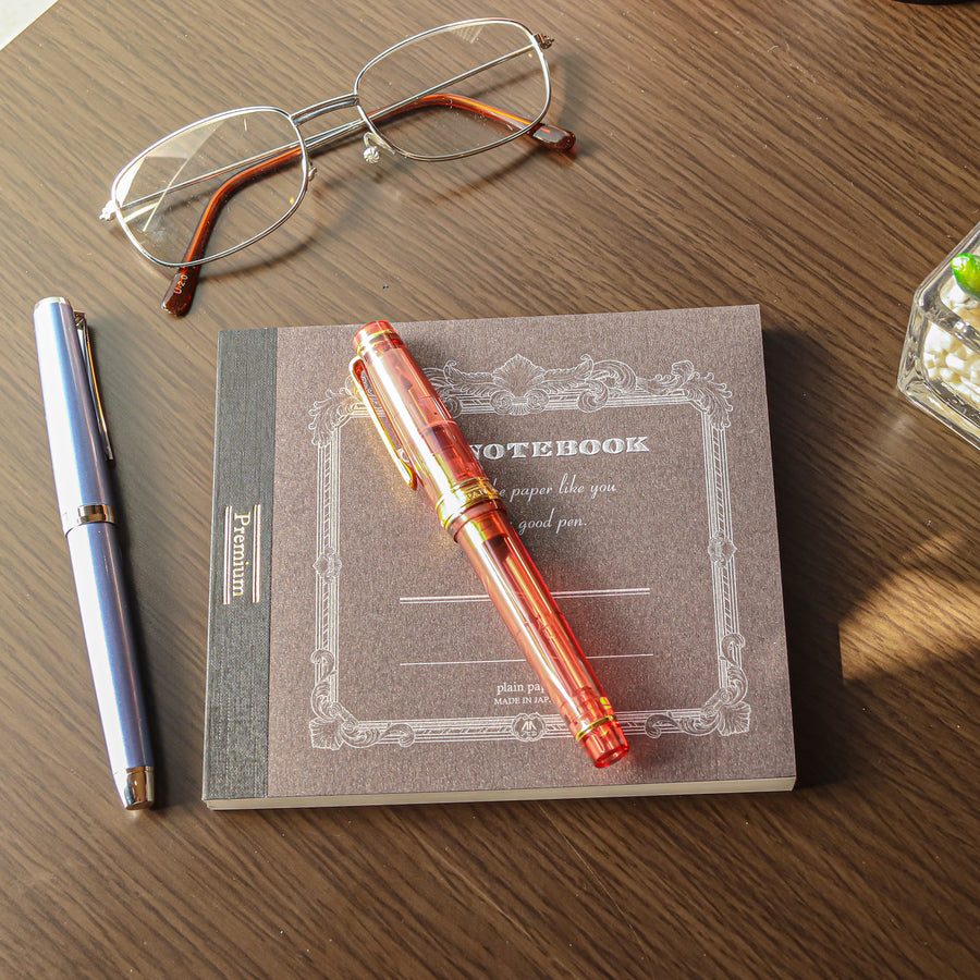 Premium C.D. Notebook CD Brown - Blank - PenSachi Japanese Limited Fountain Pen
