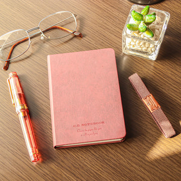 Premium C.D. Notebook B7 Wine Red -  5 mm Graph - PenSachi Japanese Limited Fountain Pen