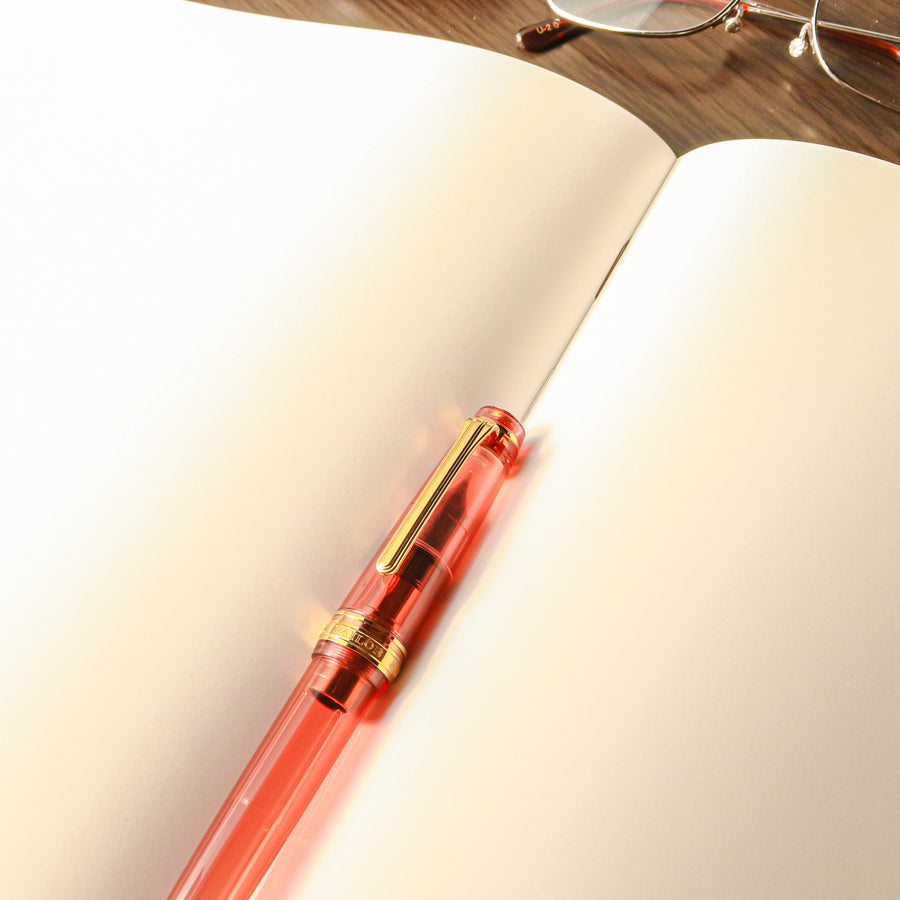Premium C.D. Notebook A4 Brown - Blank - PenSachi Japanese Limited Fountain Pen