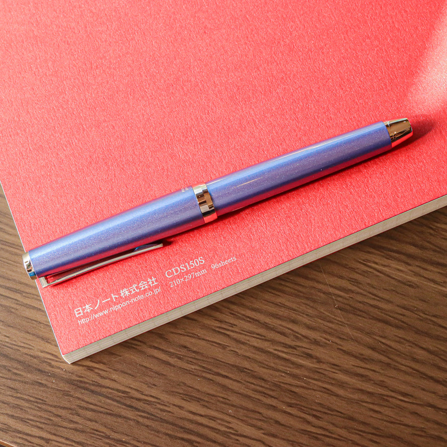Premium C.D. Notebook A4 Red - 5mm Graph - PenSachi Japanese Limited Fountain Pen