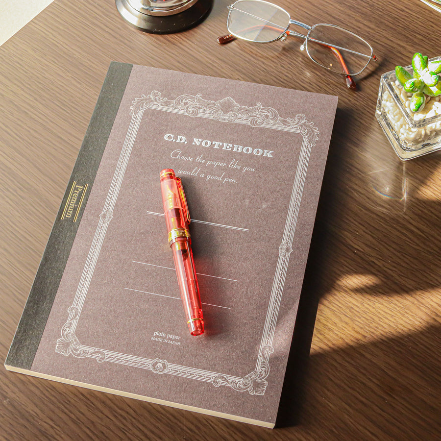Premium C.D. Notebook B5 Brown - Blank - PenSachi Japanese Limited Fountain Pen
