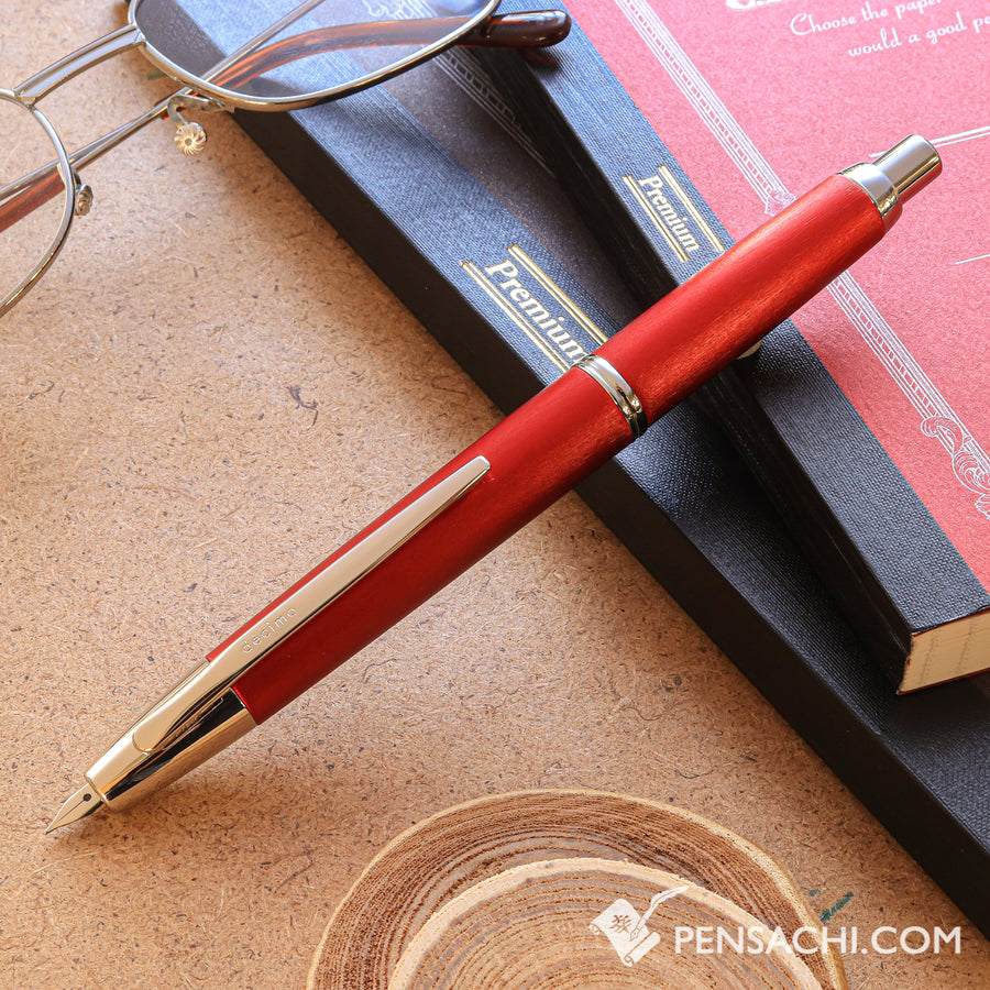 PILOT Limited Edition Vanishing Point Capless Decimo Fountain Pen - Red - PenSachi Japanese Limited Fountain Pen