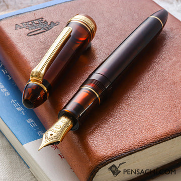 SAILOR Limited Edition 1911 Large (Full size) Demonstrator Fountain Pen - Walnut Brown - PenSachi Japanese Limited Fountain Pen