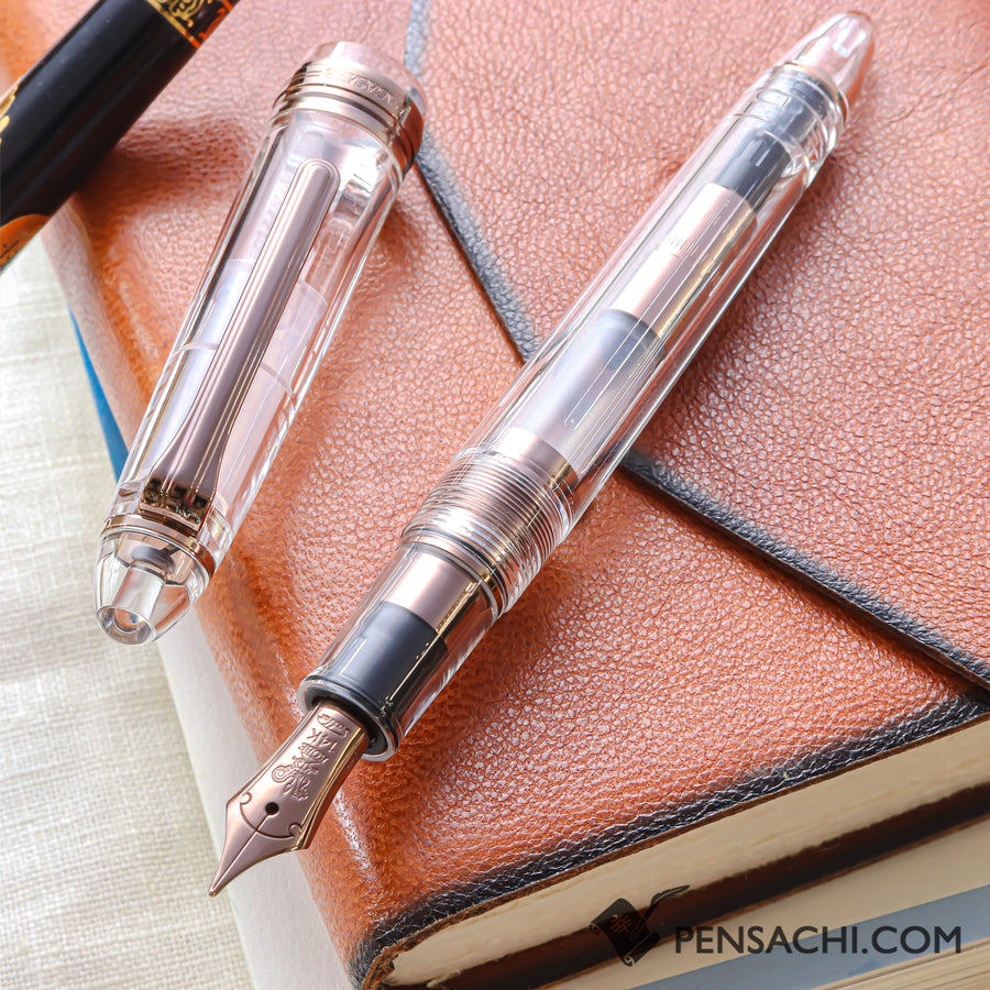 SAILOR Limited Edition 1911 Standard (Mid size) Demonstrator Fountain Pen - Skeleton Antique Gold - PenSachi Japanese Limited Fountain Pen