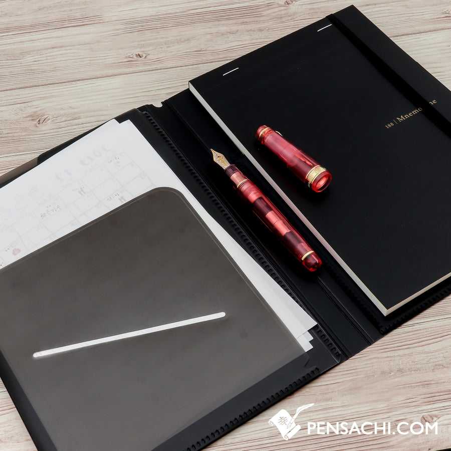 Maruman Mnemosyne  Notepad 5mm - Graph A5 Size N188A with 5 Pockets Holder - PenSachi Japanese Limited Fountain Pen