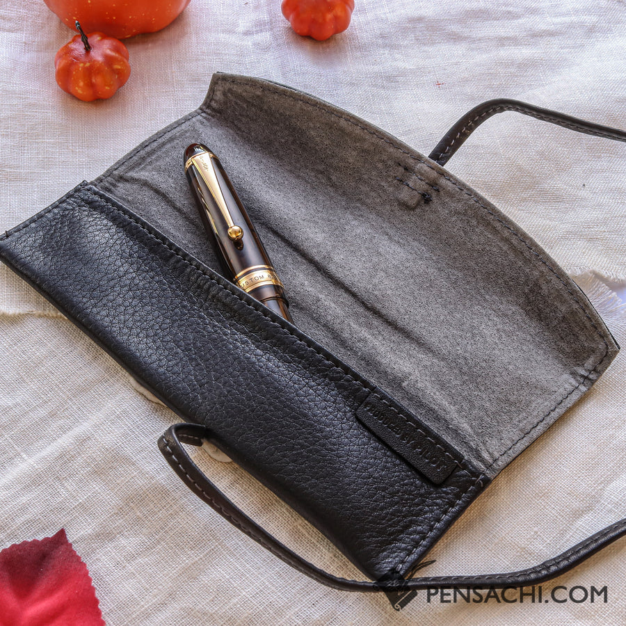 PILOT PENSEMBLE Roll Pen Case 1 Pen - Black - PenSachi Japanese Limited Fountain Pen