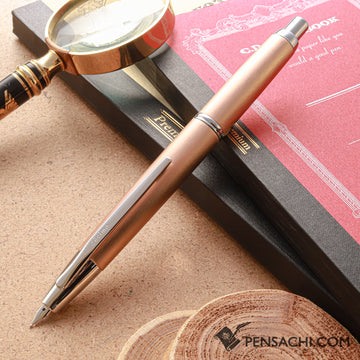 PILOT Limited Edition Vanishing Point Capless Decimo Fountain Pen - Champagne - PenSachi Japanese Limited Fountain Pen