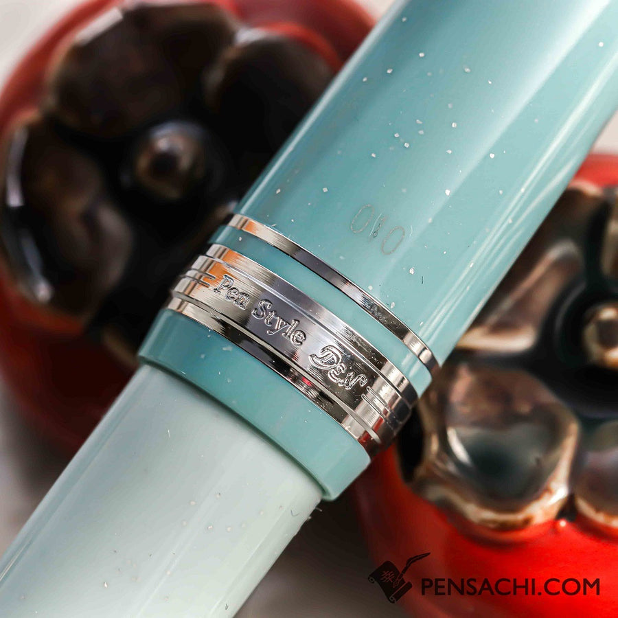 SAILOR Limited Edition  Pro Gear Slim (Sapporo) Fountain Pen -  Pearl blue - PenSachi Japanese Limited Fountain Pen