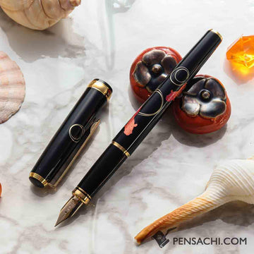 PLATINUM Kanazawa Haku Standard Fountain Pen - Gold Fish - PenSachi Japanese Limited Fountain Pen