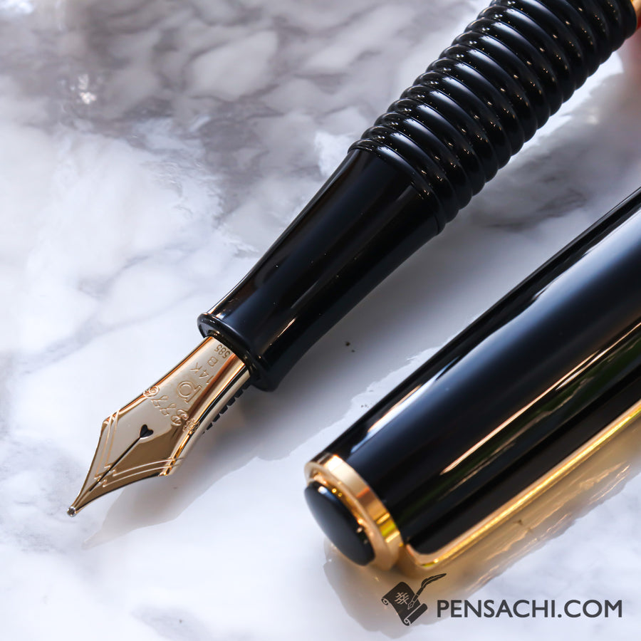 PLATINUM #3776 Gathered Fountain Pen - Black - PenSachi Japanese Limited Fountain Pen