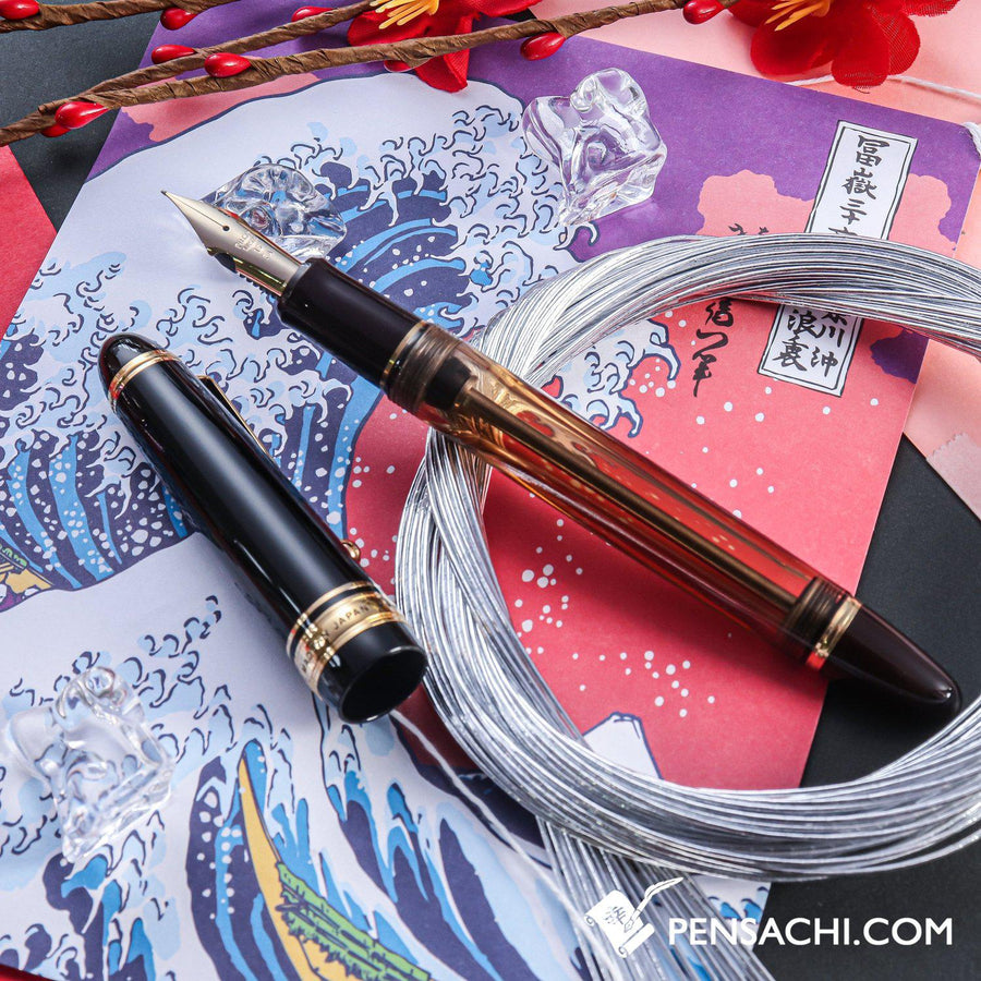 PILOT Custom 823 Fountain Pen - Amber Brown Demonstrator - PenSachi Japanese Limited Fountain Pen