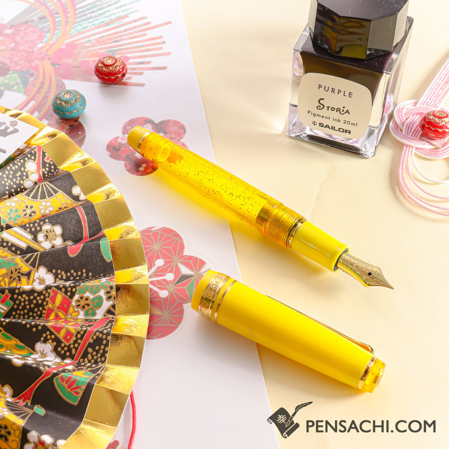 SAILOR Limited Edition Pro Gear Slim (Sapporo) Demonstrator Fountain Pen - Sparkling Wine - PenSachi Japanese Limited Fountain Pen