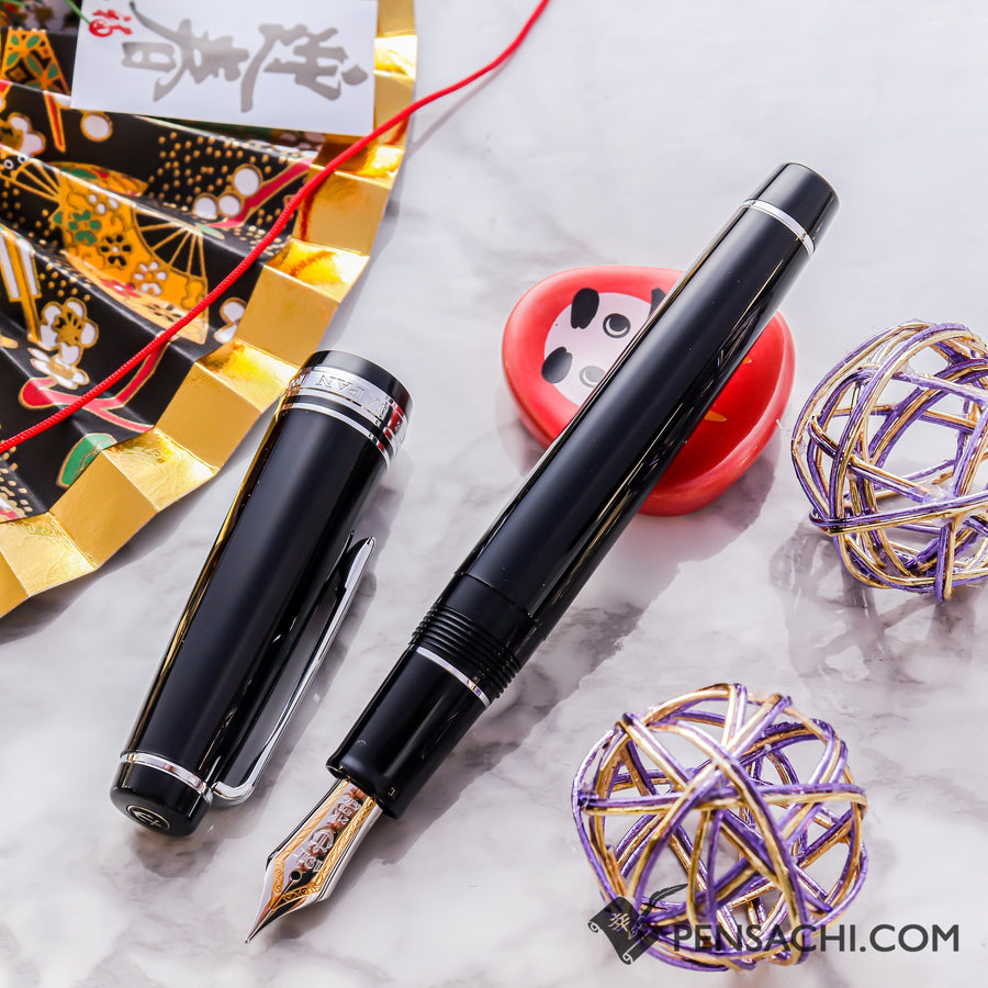 SAILOR Pro Gear Classic Fountain Pen - Black Silver - PenSachi Japanese Limited Fountain Pen