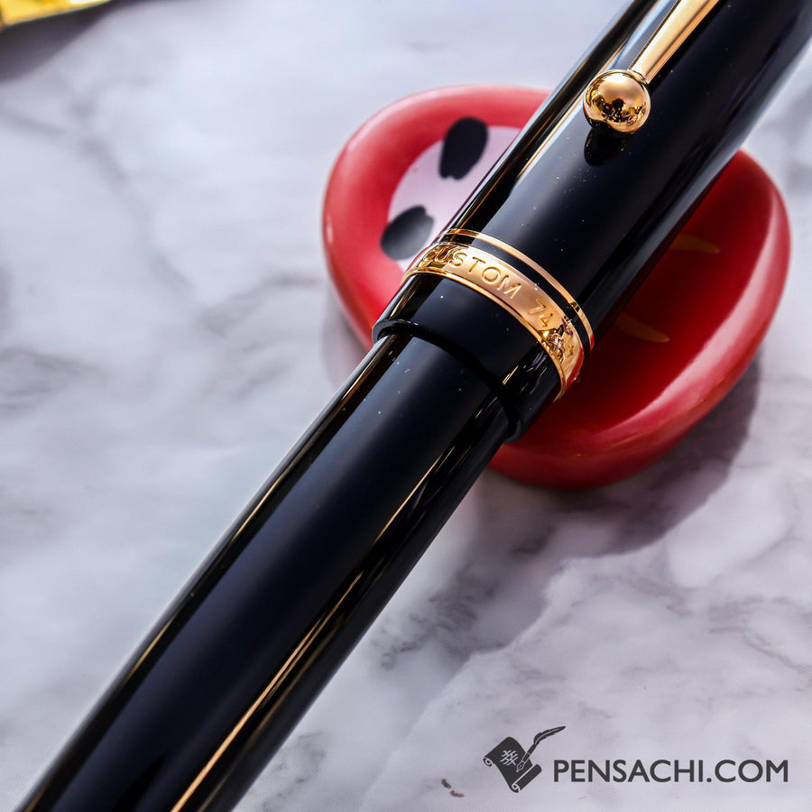 PILOT Custom 74 Fountain Pen - Black - PenSachi Japanese Limited Fountain Pen