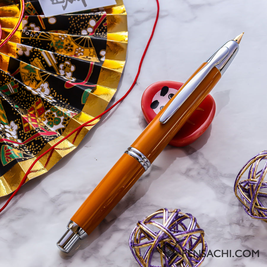 PILOT Vanishing Point Capless Special Alloy Fountain Pen - Deep Yellow - PenSachi Japanese Limited Fountain Pen