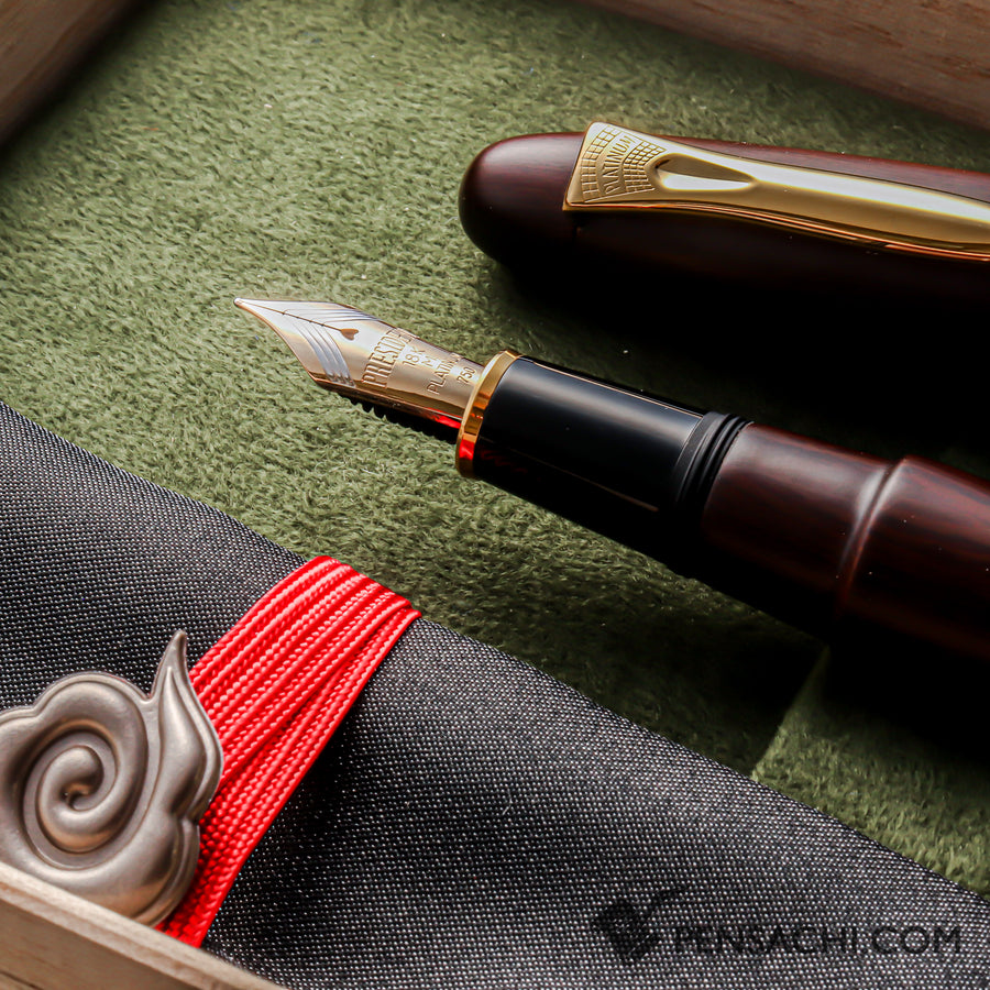 PLATINUM Izumo Tagayasan Fountain Pen - Matte Black - PenSachi Japanese Limited Fountain Pen