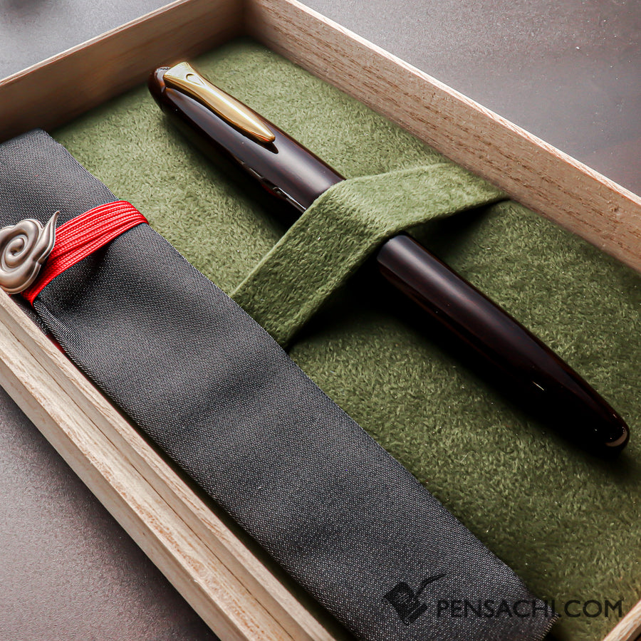 PLATINUM Izumo Tagayasan Fountain Pen - Gloss Black - PenSachi Japanese Limited Fountain Pen