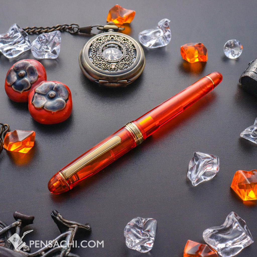PLATINUM Limited Edition #3776 Century Fountain Pen - Skeleton Apricot - PenSachi Japanese Limited Fountain Pen