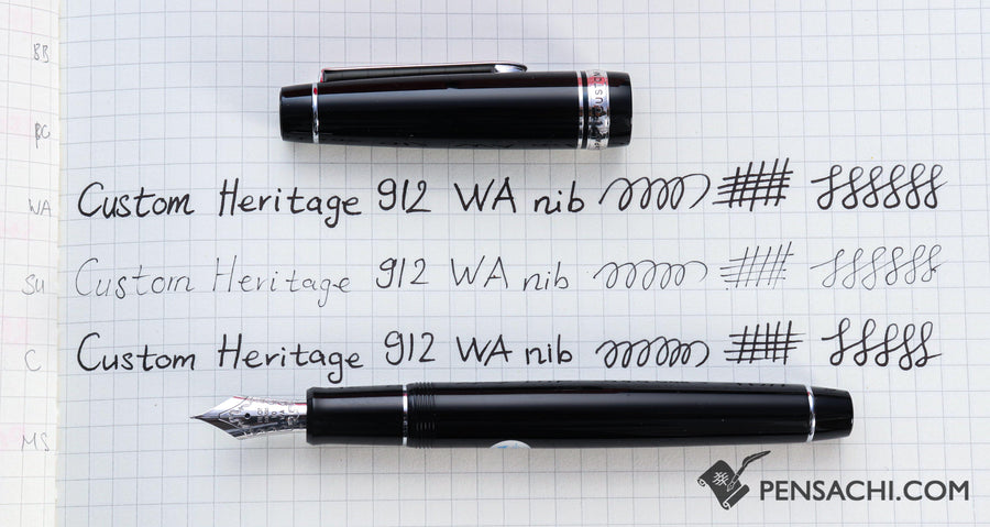 PILOT Custom Heritage 912 Fountain Pen - Black - PenSachi Japanese Limited Fountain Pen