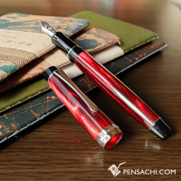 PILOT Custom Heritage SE Fountain Pen - Marble Red - PenSachi Japanese Limited Fountain Pen