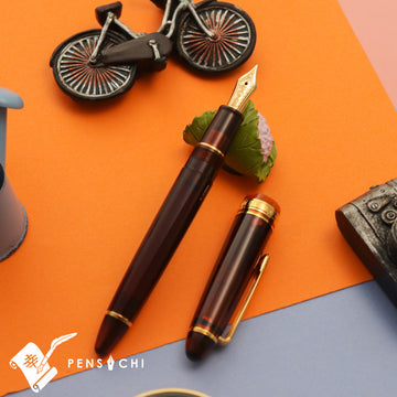 SAILOR Limited Edition 1911 Profit Mid-size 21 Demonstrator Fountain Pen - Mocha Brown Fountain Pen- PenSachi Japanese Limited Fountain Pen
