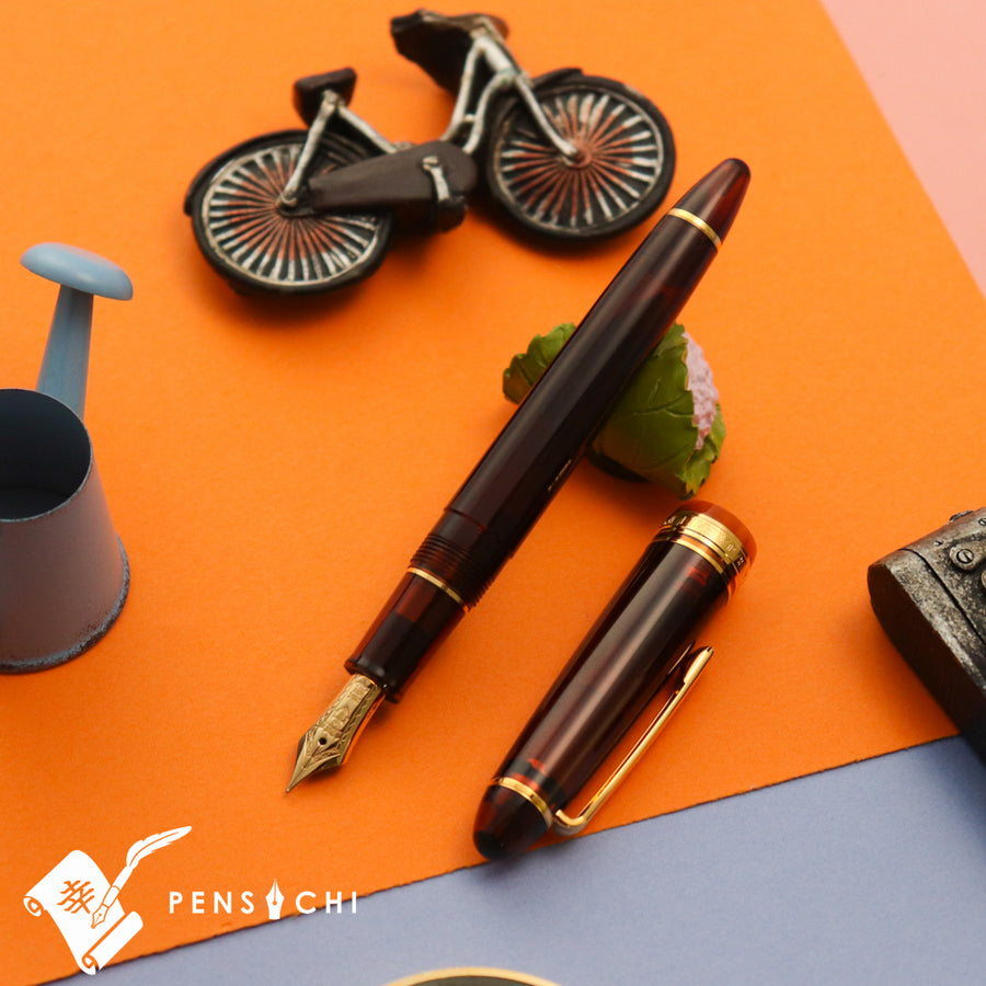 SAILOR Limited Edition 1911 Standard (Mid size) 21 Demonstrator Fountain Pen - Walnut Brown - PenSachi Japanese Limited Fountain Pen