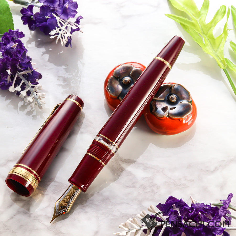 SAILOR Pro Gear Classic Realo Fountain Pen - Wine Red - PenSachi Japanese Limited Fountain Pen