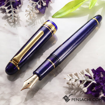 SAILOR Promenade Fountain Pen - Sparkling Blue Gold - PenSachi Japanese Limited Fountain Pen