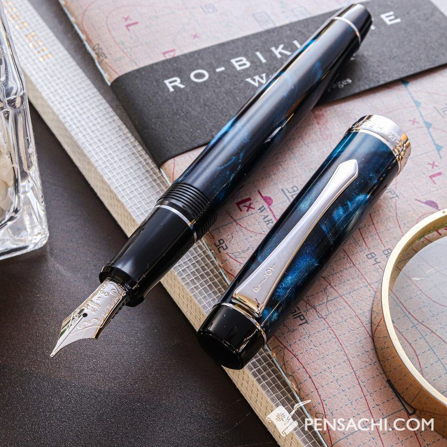 PILOT Custom Heritage SE Fountain Pen - Marble Blue - PenSachi Japanese Limited Fountain Pen