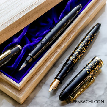 SAILOR 1911 LE SET Profit Maki-e Fude Mannen Fountain Pen - PenSachi Japanese Limited Fountain Pen