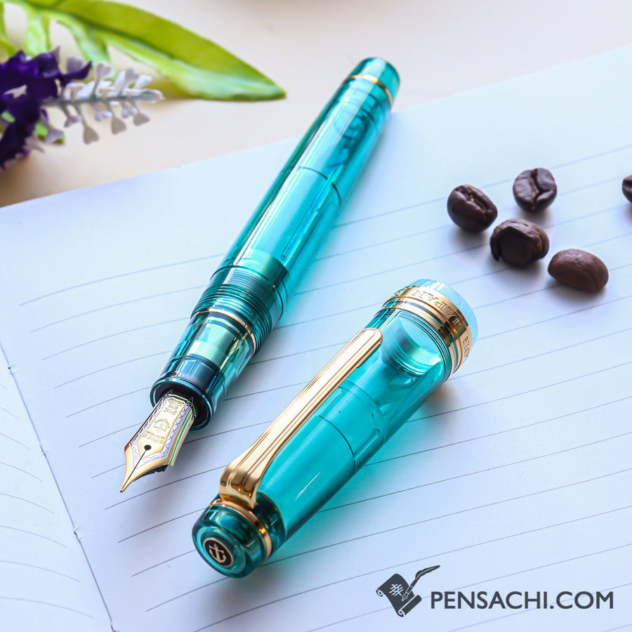 SAILOR Limited Edition Pro Gear Classic Demonstrator Fountain Pen - Cyan Blue - PenSachi Japanese Limited Fountain Pen