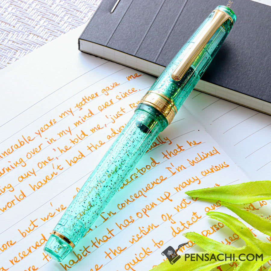 SAILOR Limited Edition Pro Gear Slim (Sapporo) Demonstrator Fountain Pen - Sparkling Light Green - PenSachi Japanese Limited Fountain Pen