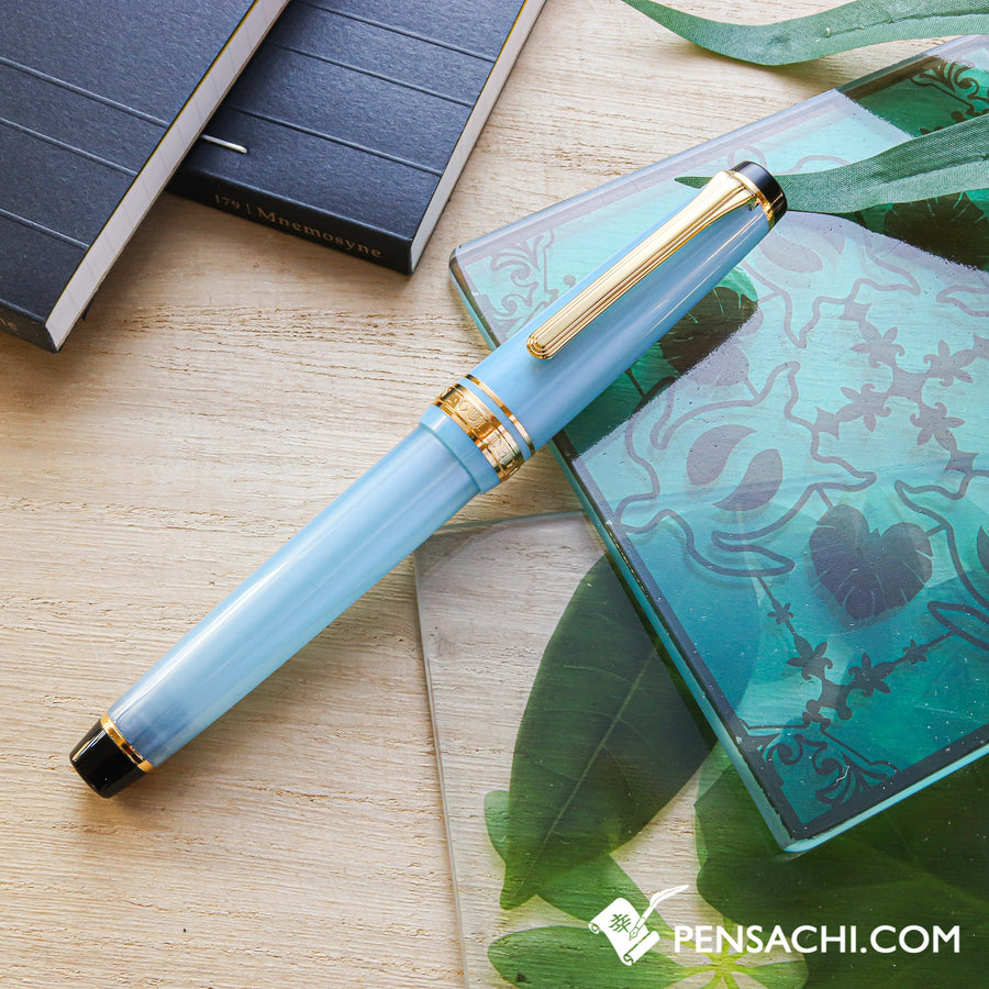 SAILOR Pro Gear Slim (Sapporo) Shikiori Fountain Pen - Spring Blue - PenSachi Japanese Limited Fountain Pen
