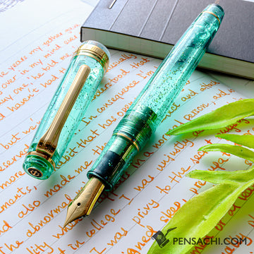 SAILOR Limited Edition Pro Gear Slim (Sapporo) Demonstrator Fountain Pen - Sparkling Light Green