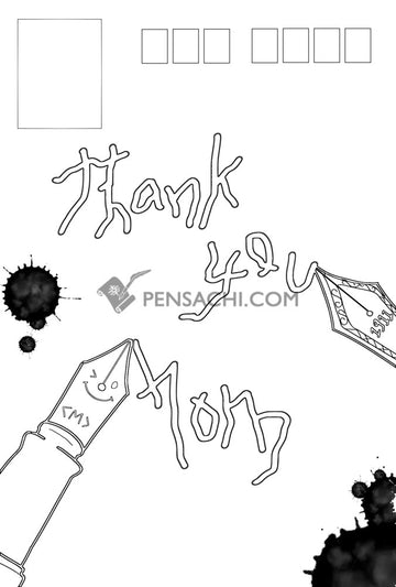 Pensachi Post Card - Mother's Day 2 - PenSachi Japanese Limited Fountain Pen