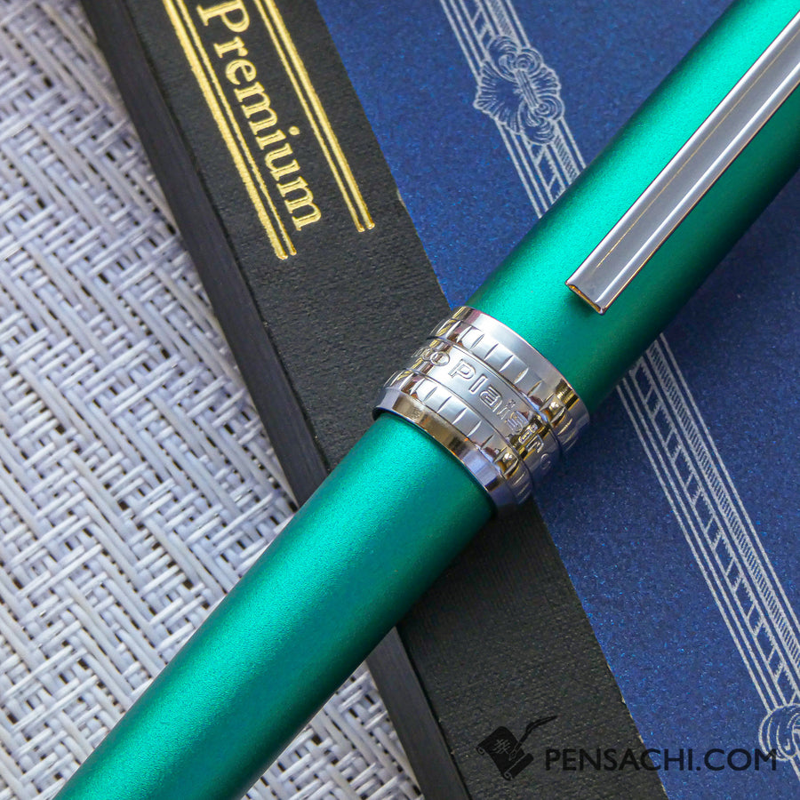 PLATINUM Plaisir Fountain Pen - Teal Green - PenSachi Japanese Limited Fountain Pen