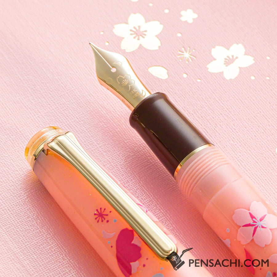 【Limited Edition Set】 SAILOR Pro Gear Slim Demonstrator Fountain Pen - Sakura Pink - PenSachi Japanese Limited Fountain Pen