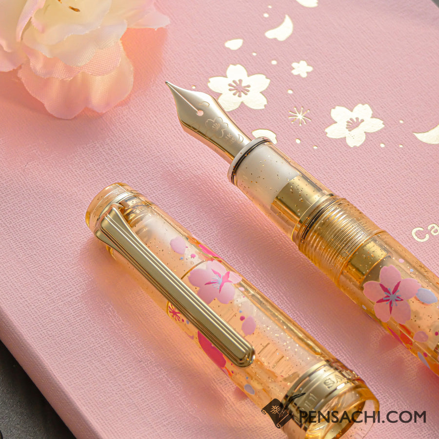 Limited Edition Set SAILOR Pro Gear Slim Demonstrator Fountain Pen - Sakura Gold - PenSachi Japanese Limited Fountain Pen