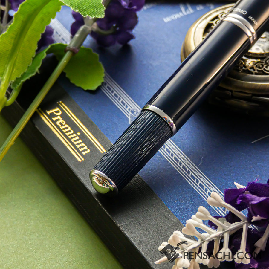 PILOT Vanishing Point Capless Fermo Fountain Pen - Dark Blue - PenSachi Japanese Limited Fountain Pen