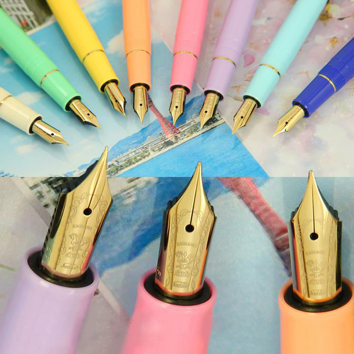 Sailor Limited Edition Pro-Color Stainless Steel Gold Plated Fountain Pen - Oji Cherry