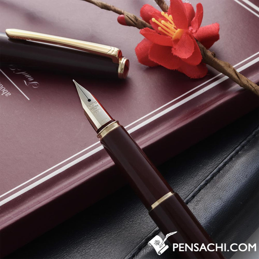 PILOT Deluxe Urushi Fountain Pen - Deep Red - PenSachi Japanese Limited Fountain Pen