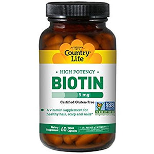 Country Life - Biotin 5 mg - 120 Capsules