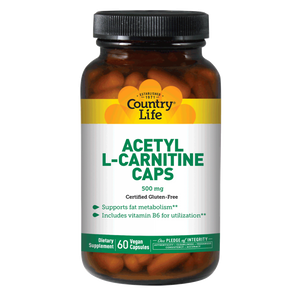 Country Life - Acetyl L-Carnitine - 60 Vegan Capsules