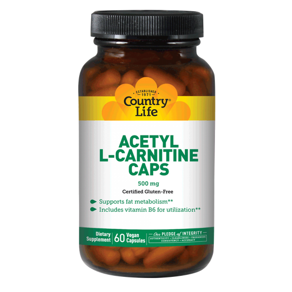 Country Life - Acetyl L-Carnitine - 60 Vegan Capsule