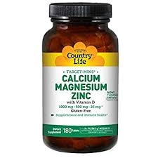 Country Life - Calcium Magnesium Zinc w/ Vitamin D - 90 Tablets