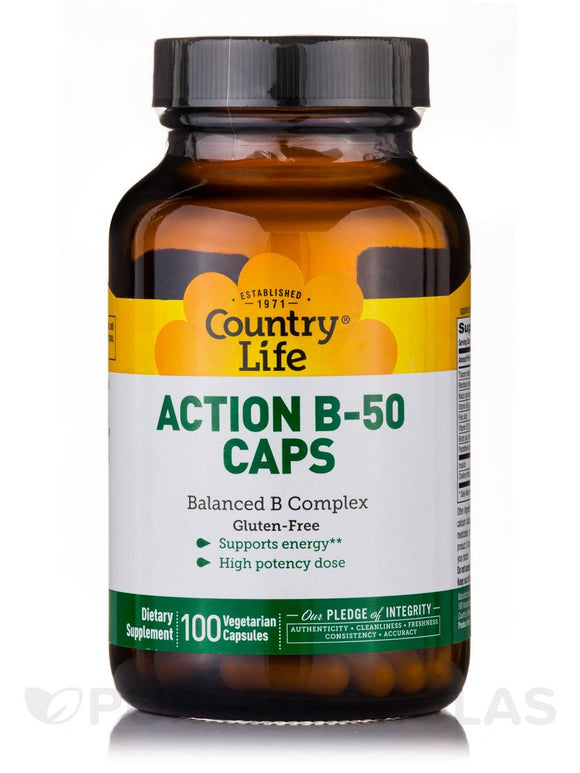 Country Life - Action B-50 Caps - 100 Vegan Capsules
