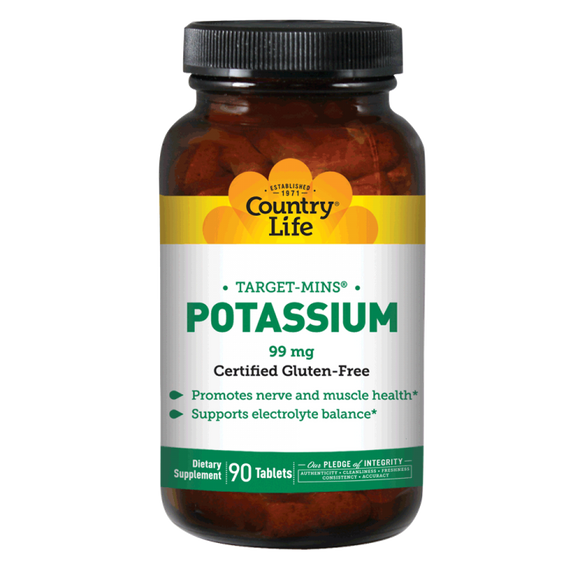 Country Life - Potassium - 90 Tablets