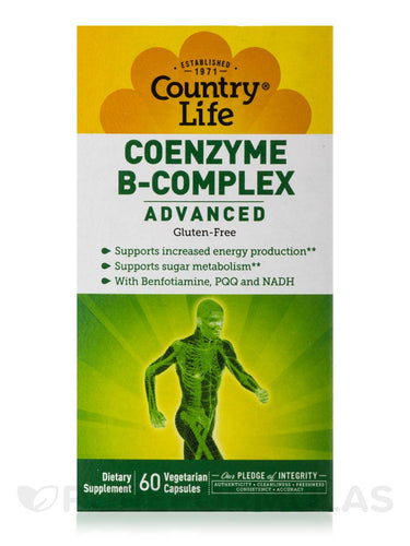 Country Life - Advanced Coenzyme B-Complex - 60 Vegetarian Capsules