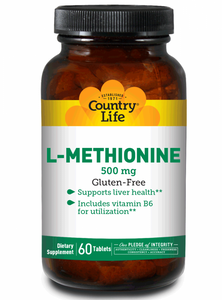 Country Life - L-Methionine - 60 Tablets